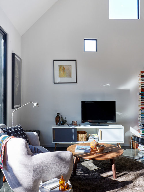 This Is An Example Of A Contemporary Formal Living Room In Melbourne With  White Walls And Part 75
