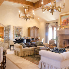 Mediterranean Living Room by Christopher Lee & Company Fine Homes