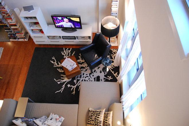 Contemporary Living Room by Nicole Lanteri
