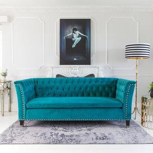Nightingale Teal Blue Velvet Sofa