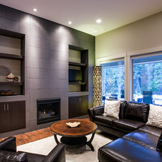 Contemporary Living Room by Norelco Cabinets Ltd