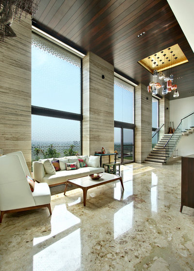 Contemporary Living Room by Dipen Gada and Associates