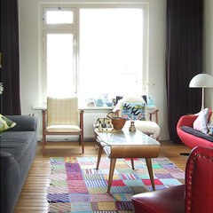 eclectic living room by Ninainvorm
