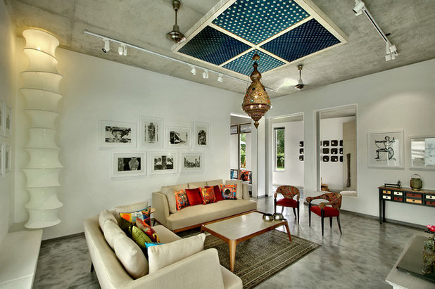 Eclectic Living Room by Dipen Gada and Associates