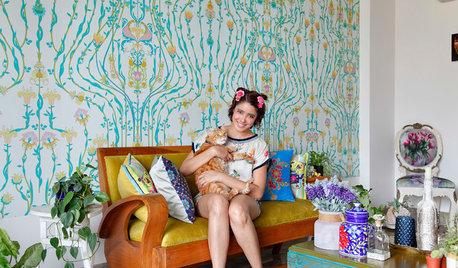 Houzz Tour: Modedesignerns hem är en grön oas i hektiska Delhi