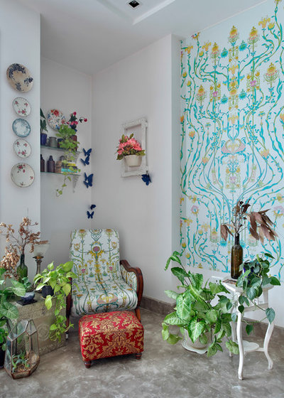 Eclectic Family Room by Mrigank Sharma Photography
