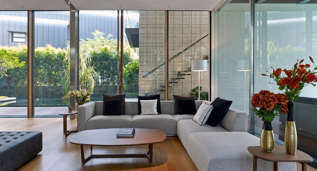 Modern Living Room by Greg Shand Architects
