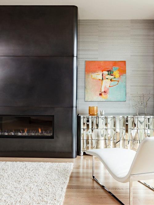 For Chimney Cladding Aluminium : Sheet metal fireplace surround houzz
