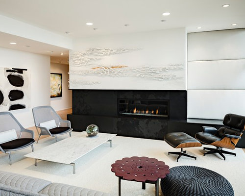 Linear Gas Fireplace Home Design Ideas Pictures Remodel And Decor