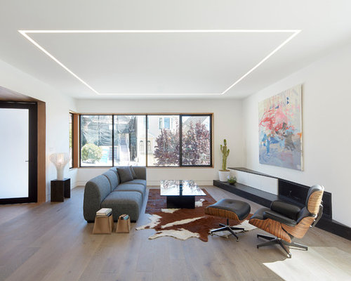 living room furniture modern design. Contemporary open concept dark wood floor and brown living room idea  in San Francisco with Top 30 Living Room Ideas Designs Houzz
