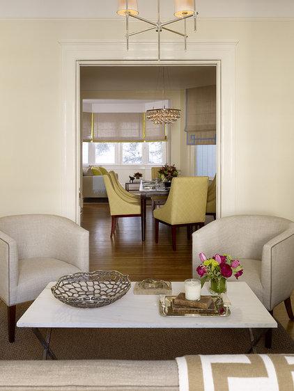 Transitional Living Room by Jute Interior Design