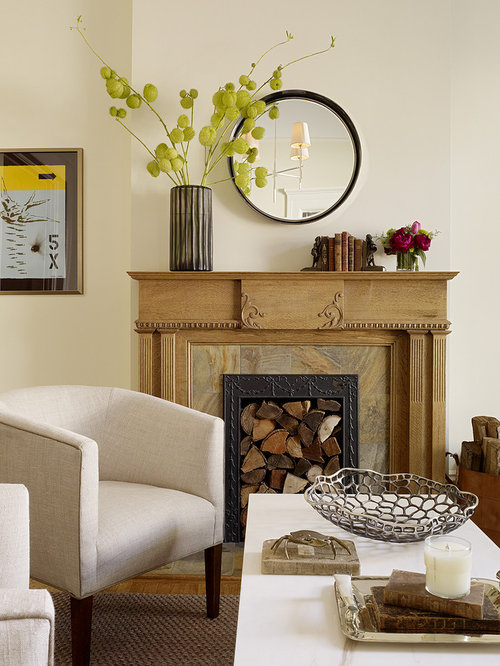 Transitional Living Room Photo In San Francisco With A Standard Fireplace Part 43