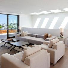Modern Living Room by Design Line Construction, Inc.