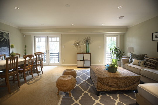 Attractive Area Rug On Carpeting Houzz