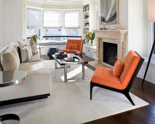 Orange Chairs Design Ideas Remodel Pictures Houzz