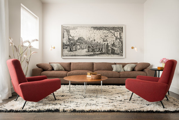 Contemporary Living Room by The Office of Charles de Lisle
