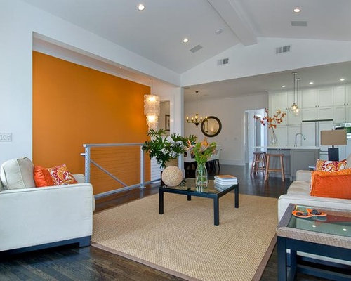 Orange Accent Wall Home Design Ideas Pictures Remodel And Decor