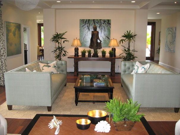 Tropical Living Room by D for Design