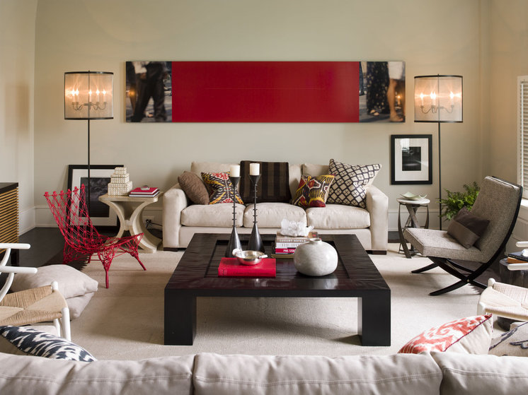 Contemporary Living Room by Thom Filicia Inc.
