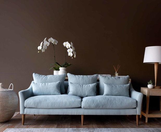 Divano Lino Grezzo : 5 tessuti per divani con i loro pro e i loro contro