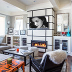Gallery Wall Neutral Color Scheme Transitional Space