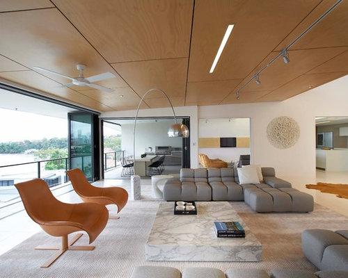 Ideas para salones fotos de salones modernos con suelo - Baldosas para salones ...