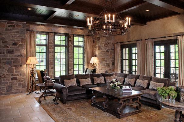 Mediterranean Living Room by Palmieri Builders