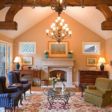 Traditional Living Room by Old World Stoneworks