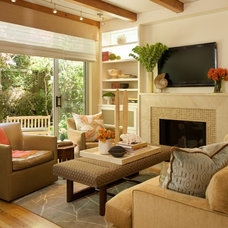 Contemporary Living Room by Laura Martin Bovard