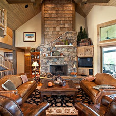 Rustic Living Room by Armin L. Wessel Architect, Inc.