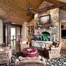 Traditional Living Room by Armin L. Wessel Architect, Inc.