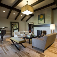 Craftsman Living Room by Higgins Architects