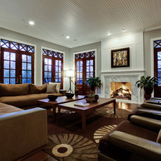 Traditional Living Room by Mullinix Custom Homes, LP