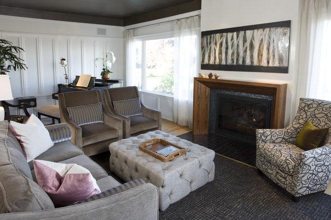 Transitional Living Room by Scott Neste | Minor Details Interior Design