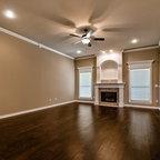 Painted Corner Cabinet - Living Room - Charleston - by Hostetler Custom Cabinetry
