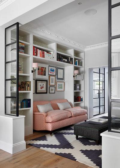 Transitional Living Room by Turner Pocock