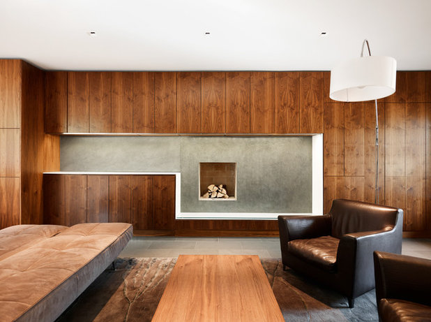 Contemporary Living Room by Altius Architecture, Inc.