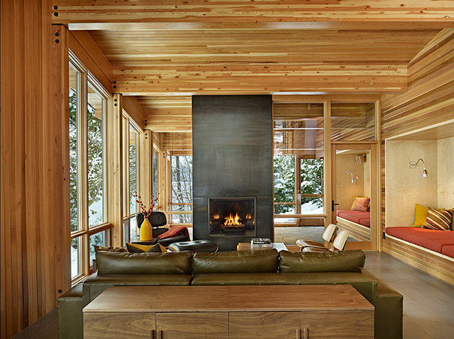 Rustic Living Room by DeForest Architects