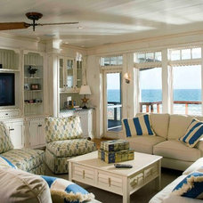 Beach Style Living Room by Tych & Walker Architects
