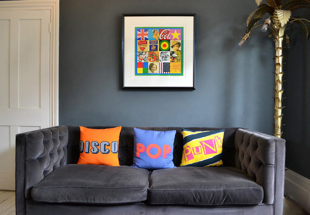 Eclectic Living Room By Rise Art