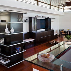 contemporary living room by Lazar Design+Build
