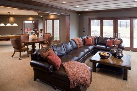 Dark Brown Sectional Home Design Ideas Pictures Remodel And Decor