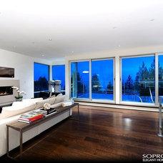 Modern Living Room by CSC DEVELOPMENTS INC