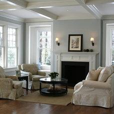Traditional Living Room by JB Robbie Builders Inc.