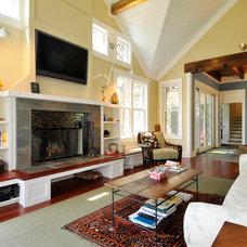 Contemporary Living Room by Pamela Glazer Architect