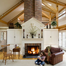Eclectic Living Room by Howell Custom Building Group