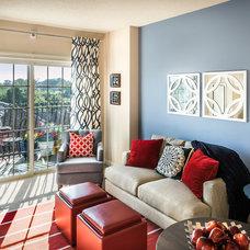 Contemporary Living Room by Bob Hallam Photographic