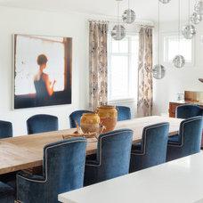 Transitional Dining Room by Kovet Design