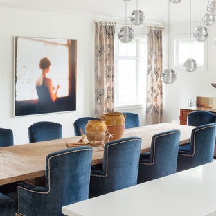 North Vancouver-Dinning Room, Blue dining Chairs, Modern Living, Home Renovation