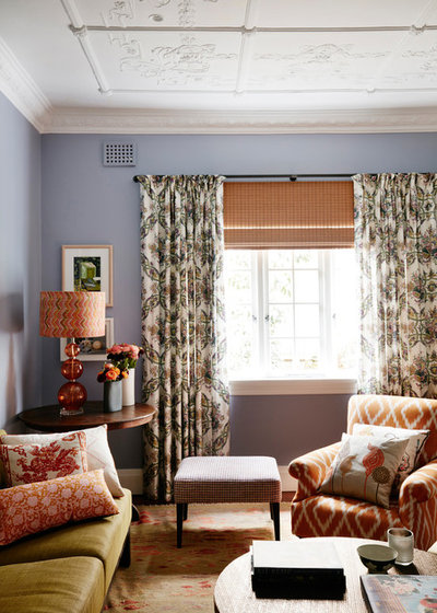 Eclectic Living Room by No Chintz